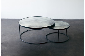 Nesting sofabordene er nogle unikke borde med farvet mønster i bordpladerne.