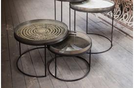 Round bakke sofabordene er lavere end Round bakkebordet.