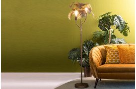 Du kan opnå at få et varmt udtryk til din indretning med denne lampe.