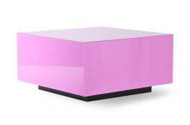 Det sejeste 80'er inspireret spejlblok bord i pink - Large