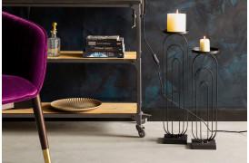 Her ses et billede af Proa lysestagerne i sort fra Dutchbone.