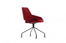 Kombinationen af stof og metal ben, giver spisebordsstolen et eksklusivt præg.