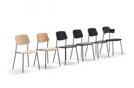 Unstrain spisebordsstolen ses her i dens mange varianter fra Prostoria.