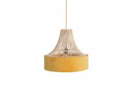 Her ses et billede af Sauve circus loftslampe i gul fra vores Unika Collection.