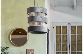 Her ses et billede af Sauve rings loftslampe i grå fra vores Unika Collection.