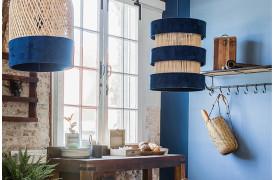 Her ses et billede af Sauve rings loftslampe i blå fra vores Unika Collection.