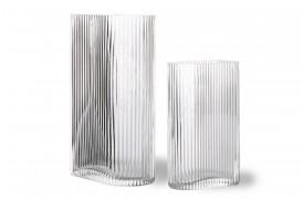 Elegante glasvaser med riflet udseende HKliving.