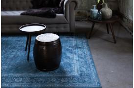 Billede af Rugged tæppe fra Dutchbone i farven Blå.