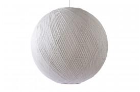 Rund smuk loftslampe / pendel lavet af rispapir og bambus.