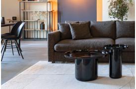 Her ses et billede af Shiny bomb sofabord og sidebord i sort fra Zuiver.
