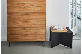 Rektangulært metal sidebord - Sort fra HKliving.