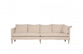 Lena L stofsofaen er en sofa med små bagpuder.