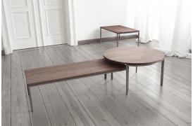 Billedet viser hvordan man har kombineret tre Urban sofaborde med hinanden.