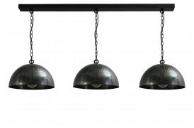 Industrielle loftslamper med kædeophæng sælges her som en lampeløsning.