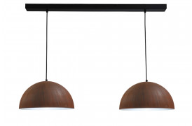 Smokestack lamperne består af en tofarvet lampeskærm.
