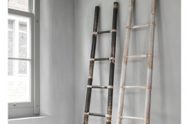 Bambus stige - Hvid