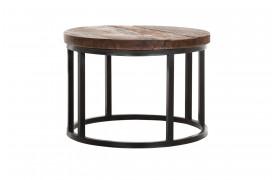 Her ses et billede af den lille version af det runde Timber sofabord fra Smokestack.