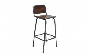 Et billede af Factory jern barstol fra vores Unika Collection.