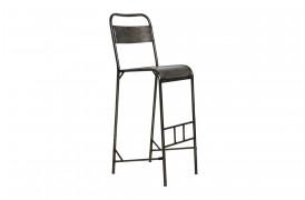 Her ses et billede af Java jern barstol i antik sølv fra vores Unika Collection.