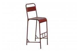 Her ses et billede af Java jern barstol i rød fra vores Unika Collection.