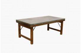 Her ses et billede af Unika sofabord med zink bordplade fra vores Unika Collection.