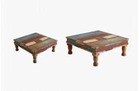 Her ses et billede af Scrapwood pata bordene fra vores Unika Collection.