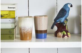 Et sæt med to tekrus fra serien 70'er keramik.