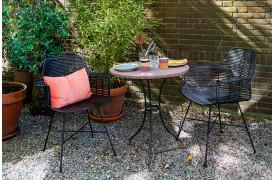 Flettet udendørsstol i sort fra HKliving.