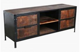 Fabriks skænk / tv-bord fra Unika Collection i FSC-certificeret genbrugstræ