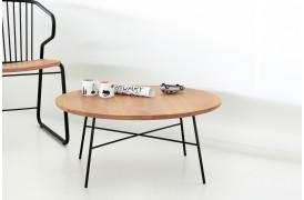 Nyhed fra Ethnicraft med Disc sofabordet, der ses her på billedet i den Runde model.