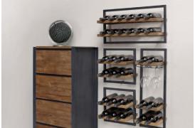 Winemate er en del af Shelfmate serien og kan kombineres på mange måder.