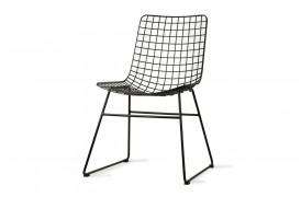 Wire stol i metal - Sort fra HKliving.