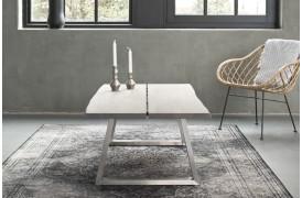 Nyhed fra Wood by Kristensen med Forest sofabordet, her set med 2 planker og Trapez-ben.