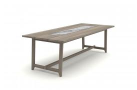 Her ses Samurai spisebordet i en version med en granit plade i midten af spisebordet.