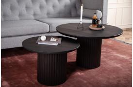 Velvet er her sofaborde i Sort matlakeret ask (C44 Ash) med et rundt retro design.