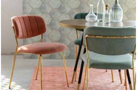 Jolien spisebordsstol fra Decoholic fås i 6 flotte farver til din boligindretning.