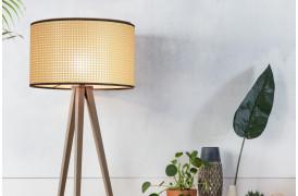 Lampe med vævet bånd online med Tripod Webbing gulvlampen fra Zuiver.