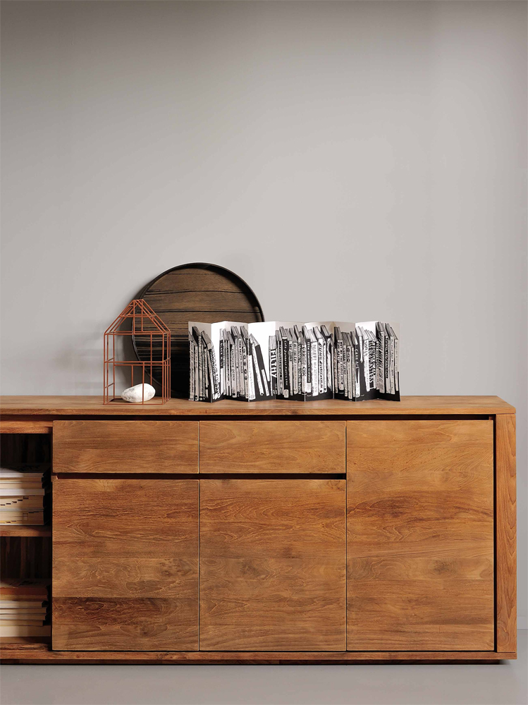 Elemental Teak - skænken er en af de mange træmøbler i sortimentet hos BoShop, der er mærket med FSC-certifikatet, der betyder at møblet er blevet til på en bæredygtig måde.