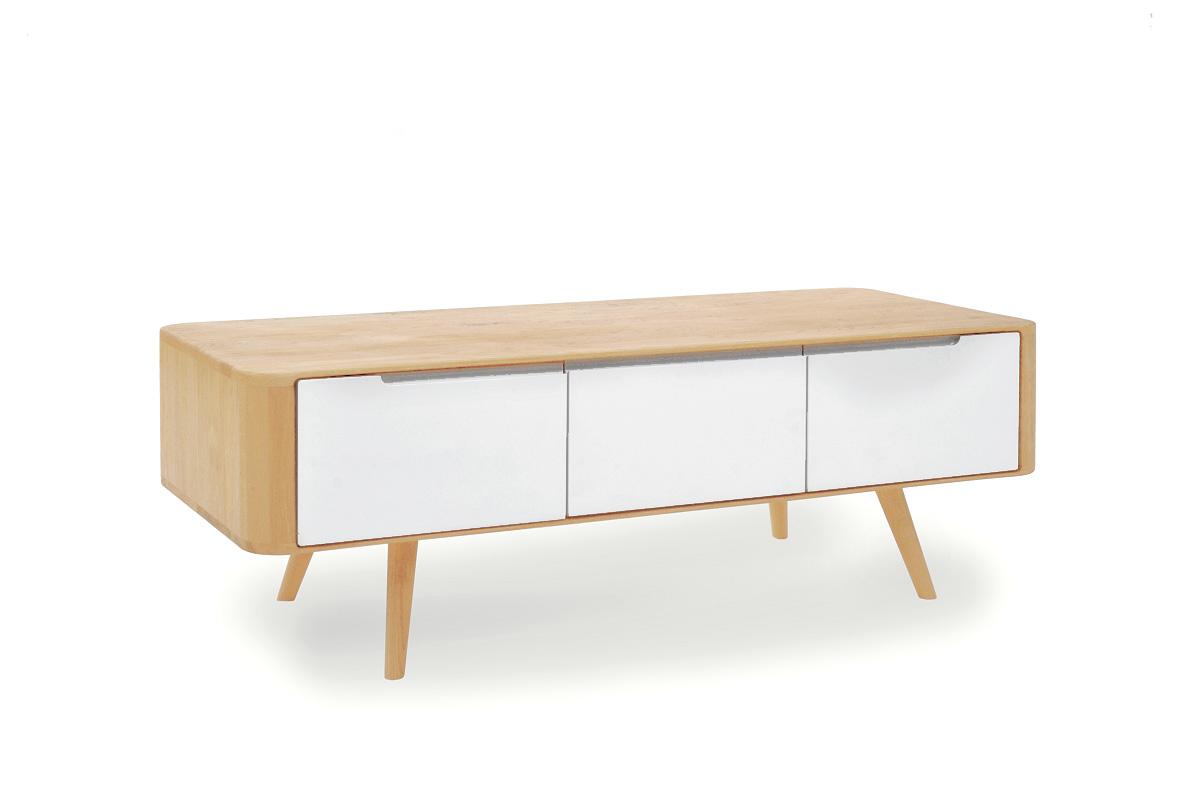 tv bord i hvid den stilrene klassiker boshop. Black Bedroom Furniture Sets. Home Design Ideas