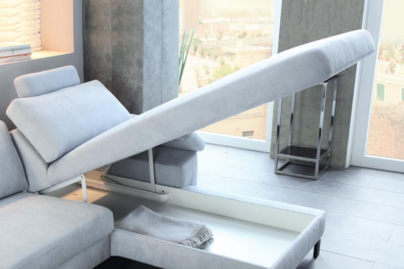 Sofa med praktisk opbevaring hos BoShop.