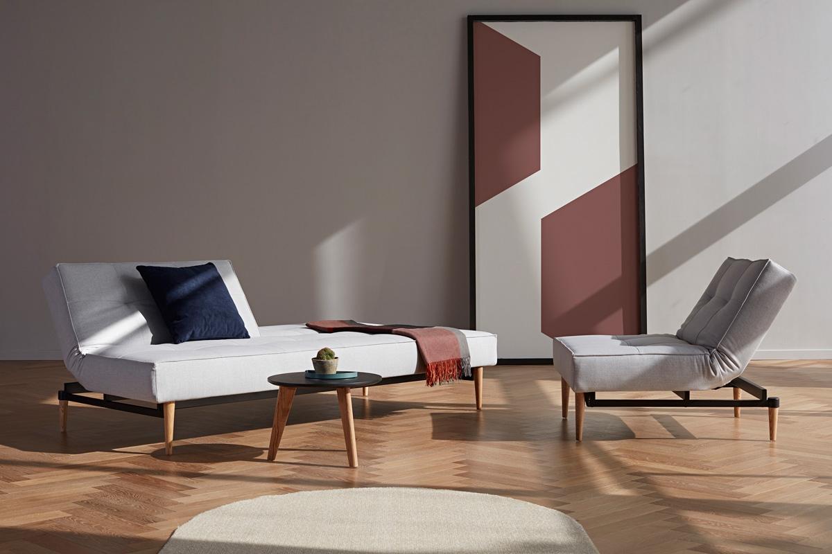 Splitback Styletto sovesofaen fra Innovation Living er en af de mange sovesofaer med posefjedre.