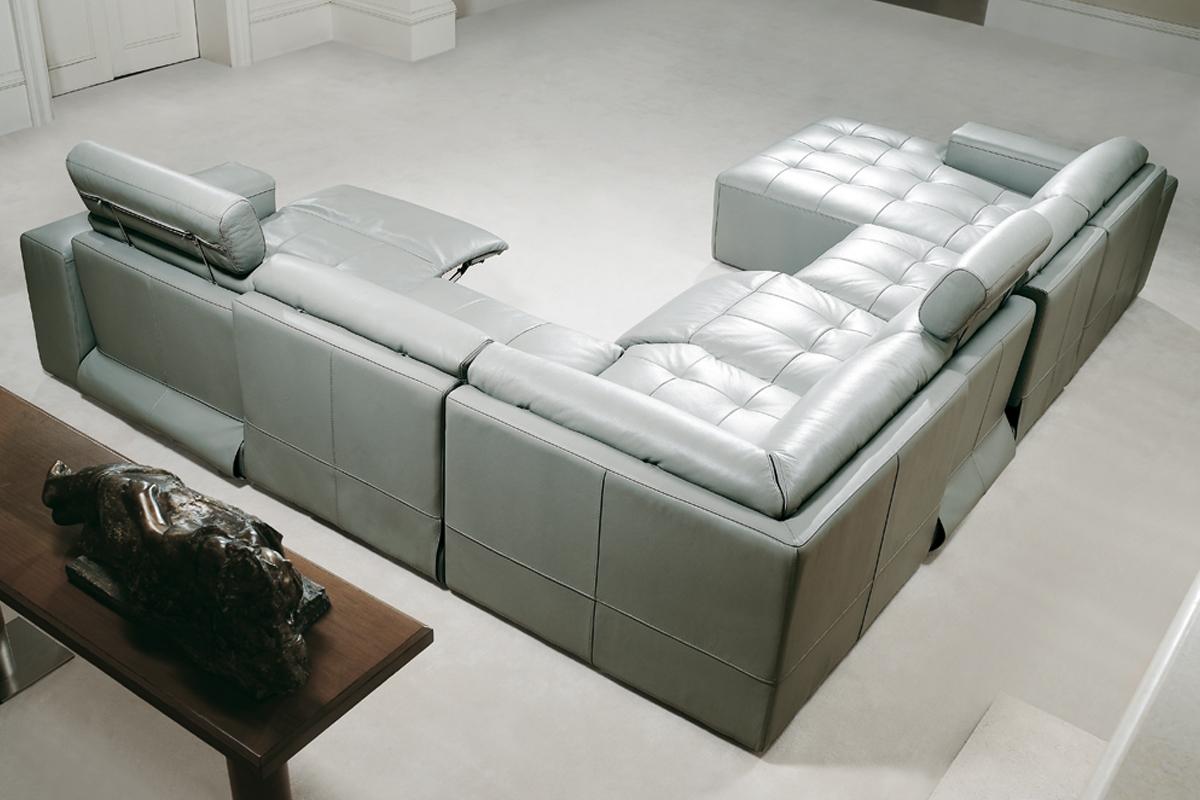 Gode overvejelser vil være placering og størrelse på din u-sofa, som her med en sofa fra Kelvin Giormani.