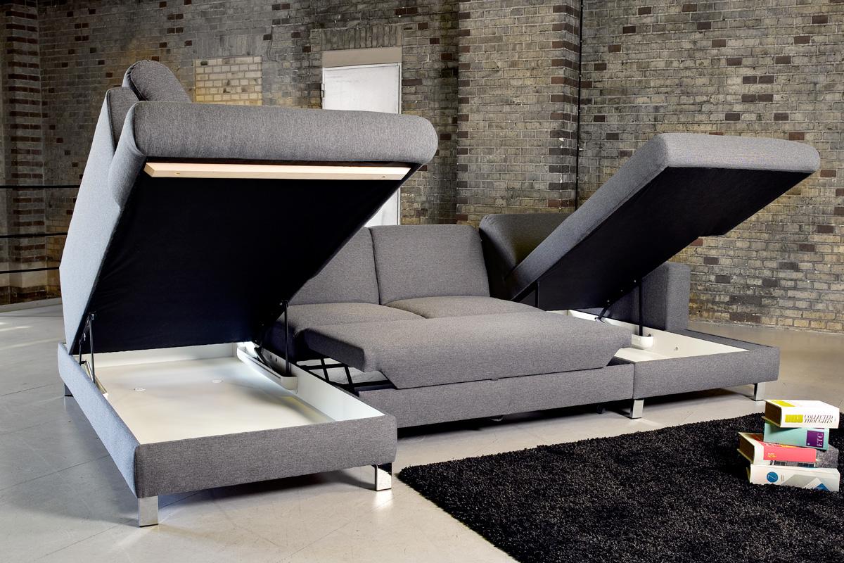 Loreno sofaen som er vist på billedet kan tilkøbes med opbevaringsmulighed.