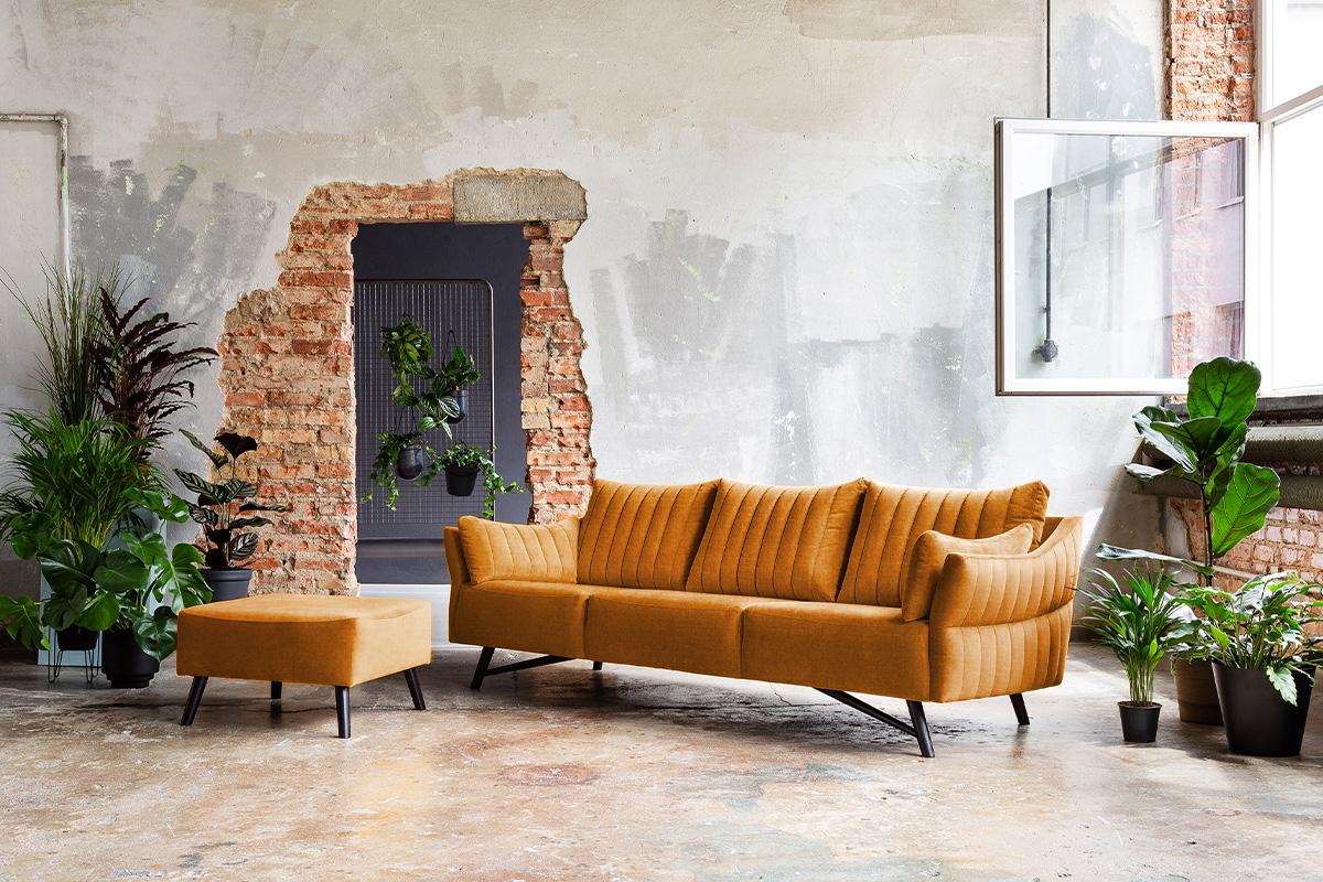 Flot sofa med rillet design hos BoShop.