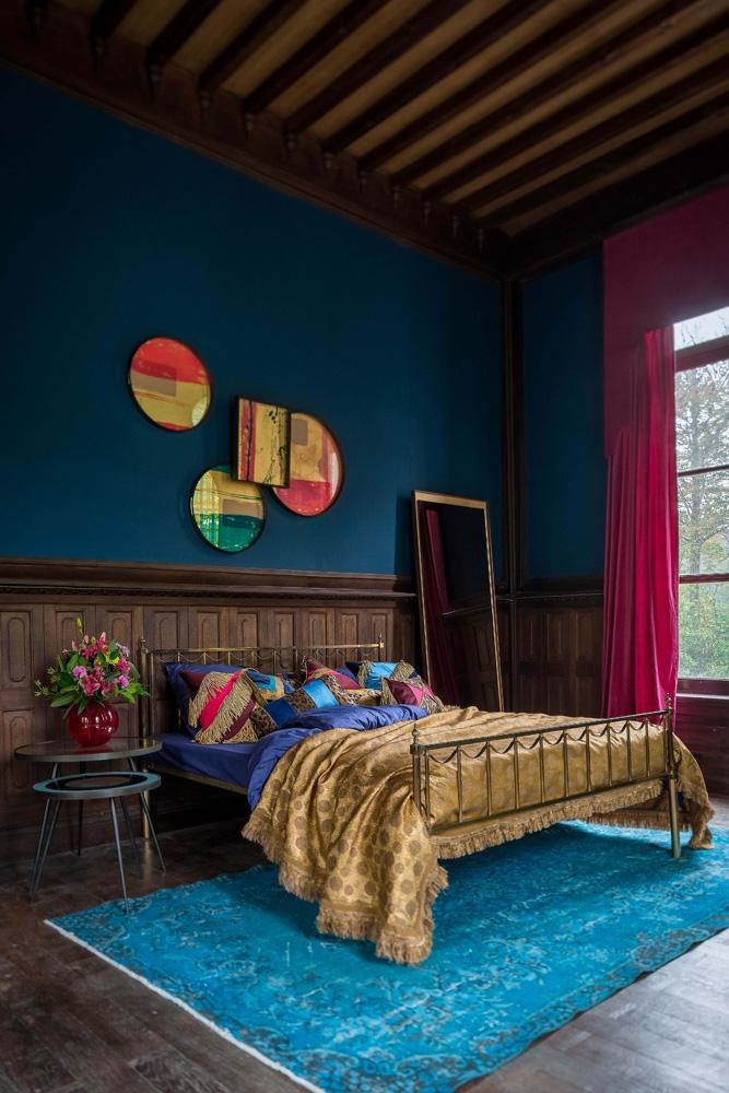 Ethnicrafts inspirerende farve og boligunivers ses her på billedet, møbler og ting som du kan købe hos BoShop.