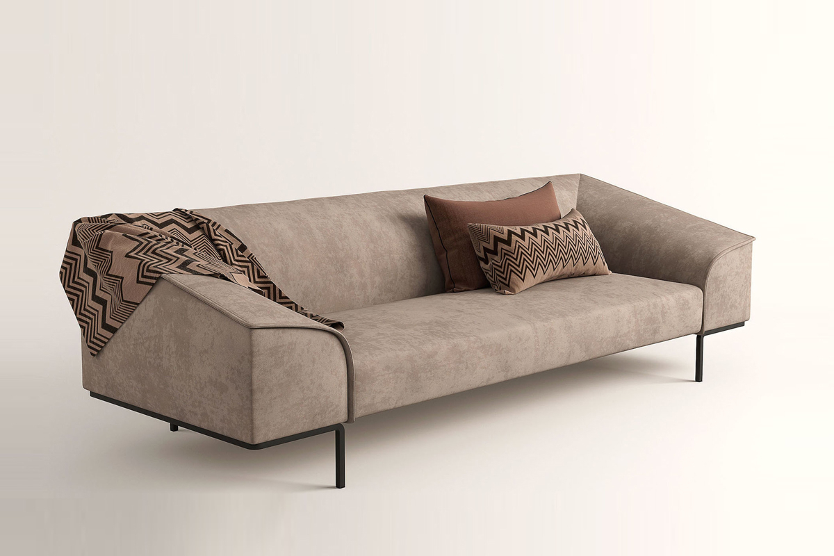Giv din moderne sofa et strejf af eksotiske og afrikanske elementer som med plaid og puder med mønstre og jordfarver. Seam stofsofaen er kendetegnet ved de linjer, som danner sofaens form. De synlige syninger er med til at definere sofaens organiske struktur. De lige ydre konturer skaber en god kontrast til det bløde polstrede sæde, armlæn og ryglæn.