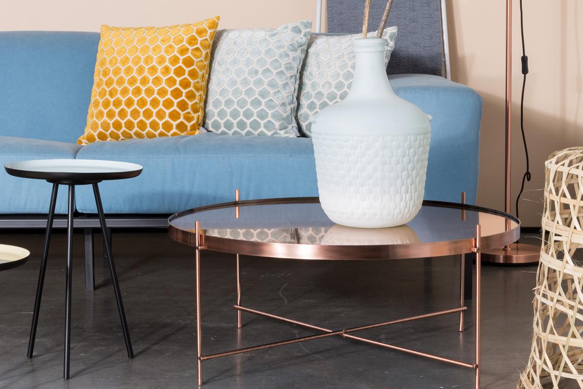 Med et sofabord i kobberfarve kan du kombinere tidens trends med mange andre farver i dit interiør.