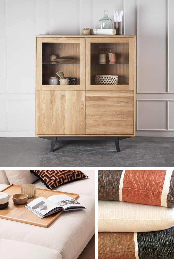 Ved at kombinere puder med sort, hvid, beige og elfenben i naturlige materialer, kan du skabe den luftige boheme stil på ingen tid. Med de mange møbler fra BoShop kan du skabe det liv du drømmer om – og møblerne kan leveres til Sjælland.